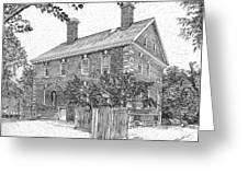Nelson House In Yorktown Virginia IIi Of IIi Greeting Card