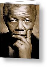 Nelson Mandela Artwork Greeting Card