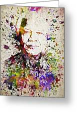 Nelson Mandela In Color Greeting Card