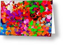 Neo-pointillism Greeting Card