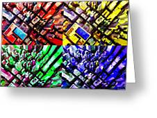 Neo Pop Art Urbanscape New York Sky View Greeting Card