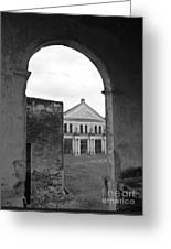 Neoclassical Storehouse And Arch Yaxcopoil Mexico Greeting Card