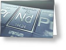 Neodymium Chemical Element Greeting Card