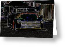 Neon 1948 Chevy Pickup Greeting Card by Steve McKinzie