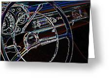 Neon 1957 Chevy Dash Greeting Card by Steve McKinzie