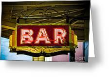 Neon Bar Greeting Card