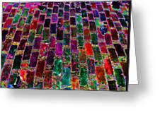 Neon Brick Greeting Card