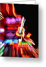 Neon Burst In Downtown Nashville Greeting Card by Dan Sproul