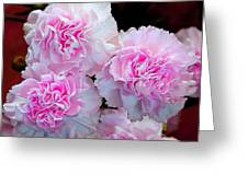 Neon Carnations Greeting Card