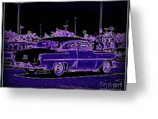 Neon Chevy Blues Greeting Card