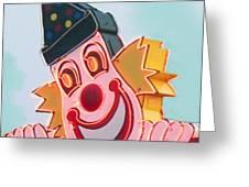 Neon Clown Greeting Card