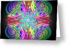Neon Dreams Greeting Card