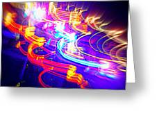 Neon Explosion Greeting Card