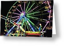 Neon Ferris Wheel Greeting Card