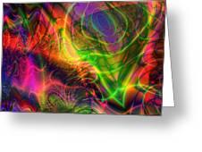 Neon Filigree Greeting Card