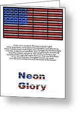 Neon Glory Greeting Card by John Farnan