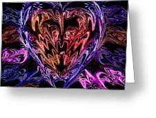 Neon Heart Greeting Card