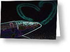 Neon Heart Greeting Card