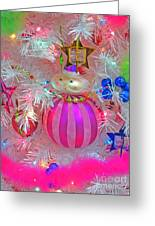 Neon Holiday Tree Greeting Card