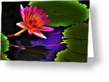 Neon Lily Greeting Card