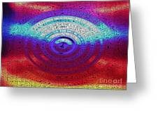 Neon Water Puddle Greeting Card