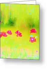 Neon Poppies Greeting Card