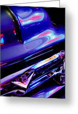 Neon Reflections - Ford V8 Pickup Truck -1044c Greeting Card