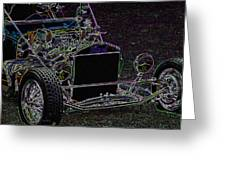 Neon Roadster Greeting Card