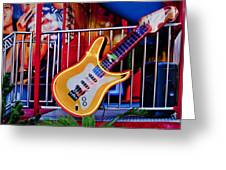 Neon Rock N Roll Greeting Card