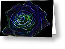 Neon Rose 5 Greeting Card