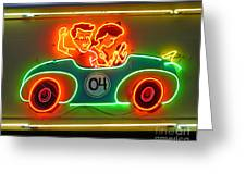 Neon Sign Kennywood Park Greeting Card by Jim Zahniser