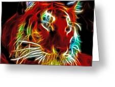 Neon Tiger Greeting Card