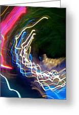 Neon Wave I Greeting Card