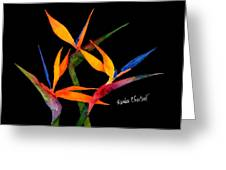 Neons Of Paradise Greeting Card