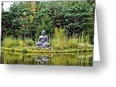 Nepal Pond Greeting Card
