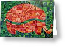 Nepalese Elephant Greeting Card