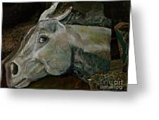Nephrite's Horses On Stairs Greeting Card