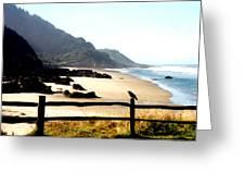 Neptune Beach Crow Greeting Card