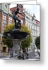 Neptune's Fountain - Gdansk Greeting Card