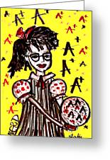 Nerd Girl Greeting Card