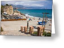 Nerja Beach In Spain Greeting Card