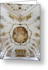 Nesselwang Church Ceiling And Organ Greeting Card
