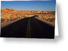 Nevada. Desert Road Greeting Card