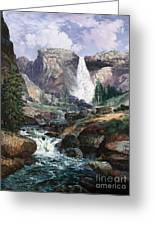 Nevada Falls Rendition By W Scott Fenton Greeting Card by W  Scott Fenton