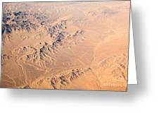 Nevada Mountains Aerial View Greeting Card