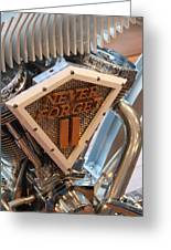 Never Forget Motorcycle Greeting Card