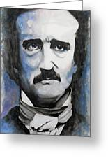 Never More - Poe Greeting Card