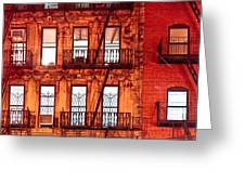 Never Sleep - Nyc At Night Greeting Card by Mark E Tisdale