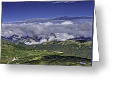 Never Summer Mtns In Clouds Greeting Card by Tom Wilbert