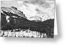 Never Summer Wilderness Area Panorama Bw Greeting Card